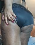 snug worn panties